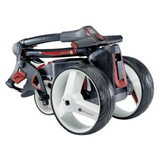 Motocaddy-M1-Electric-Golf-Trolley-black-folded-angled